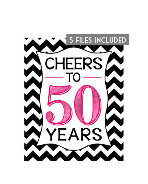 printable 50th birthday party decorations printable 50th birthday signs printable invitations