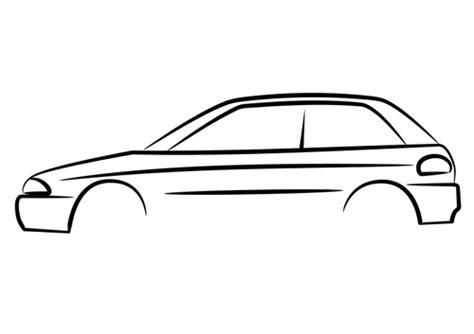 Auto Grafik by Car Side Outline Clipart Best