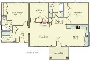 3 bedroom house plans no garage