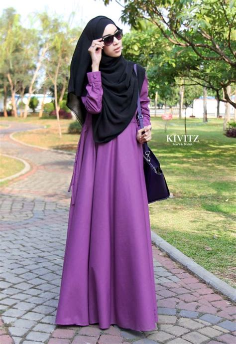 Kaftan Ungu Butterfly slim fit batwing caftan plain jersey abaya collection