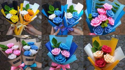 diy felt rose flower  membuat bunga mawar  kain
