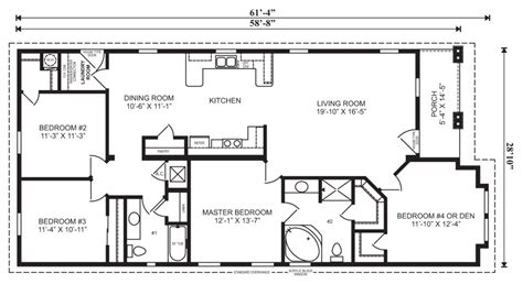 Houses With Floor Plans The Jasper Modular Home Floor Plan Jacobsen Homes