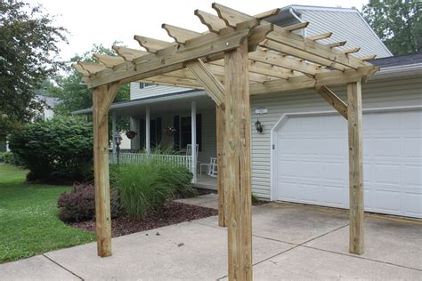 pergolas arbors and garden structures building our farm