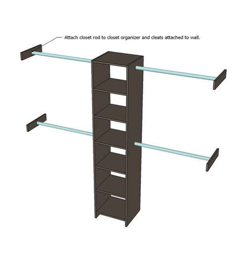 Plywood Closet Organizer by 1000 Ideas About Hanging Clothes On Hanging