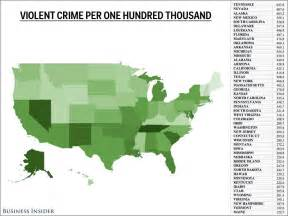 united states crime map per capita murder rate by country