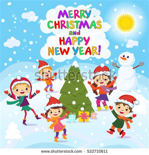 new year kid vector winter stock photos royalty free images vectors