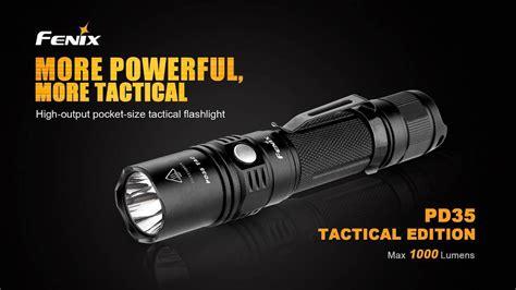 Tac Light Review by Fenix Pd35 Tac Review 1000 Led Flashlight Bundle