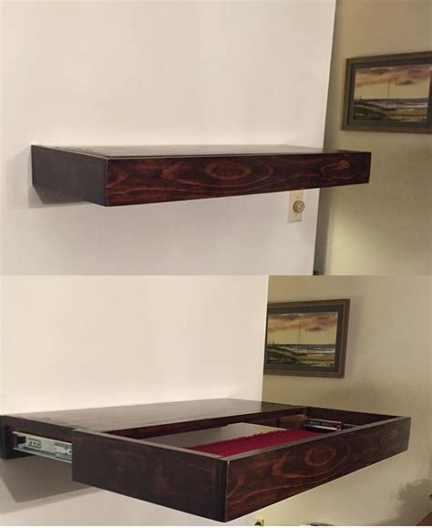 floating shelf ideas a free floating shelf with hidden compartment pinteres