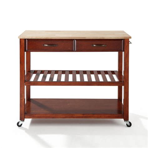 crosley furniture kitchen cart island with optional stool