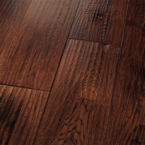 Ch Hardwood Floors Homerwood Hickory Smoked Saddle Carbonera 4 Smoked Amish Scraped 7hae124sm Hardwood