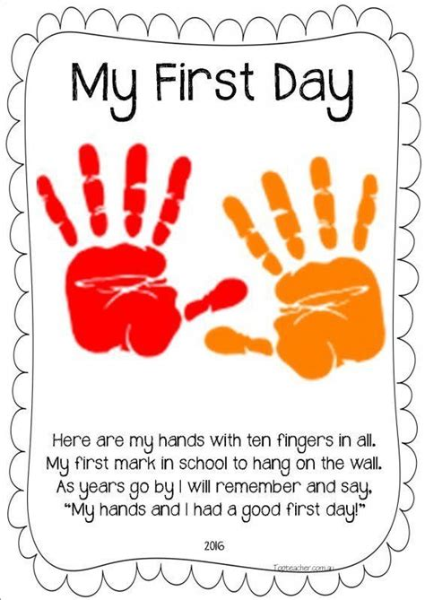 activities kindergarten first day this is so cute have one on the first day one when they