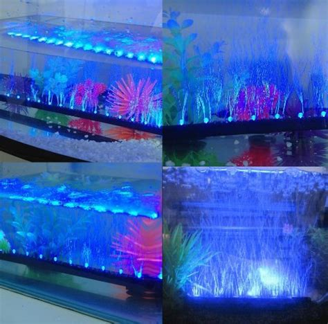 Fish Tank Led Light Strips Iegeek 174 Underwater Led Aquarium Light Airstone For Aquarium Fish Tank Ebay