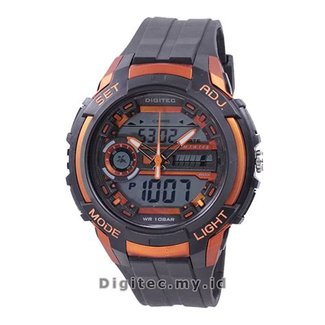Jam Tangan Pria Digitec Dg 2057 Original Black Grey 1 digitec dg 3025t black orange jam tangan sport anti air