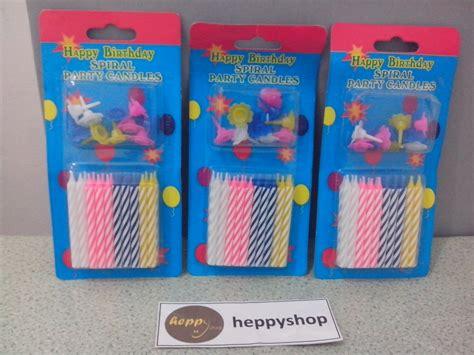 Lilin Spiral Rainbow Ulang Tahun Isi 24 jual lilin ulang tahun spiral sedang heppyshop heppy