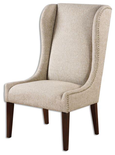 armless armchairs uttermost 23214 kriston wingback armless chair farmhouse