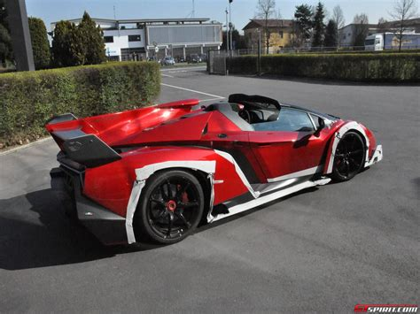 convertible lamborghini veneno spotted lamborghini veneno roadster outside factory