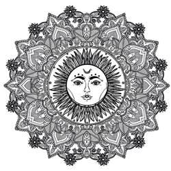 mandala complex sun 123rf difficult mandalas for adults