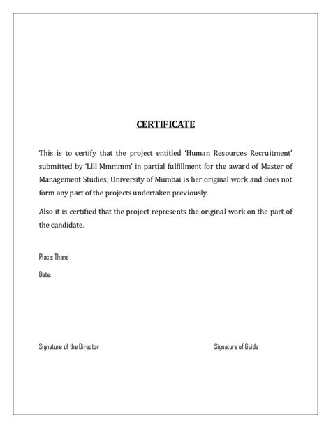 Mba Summer Internships Nyc by Sle Certificate For Summer Internship Gallery