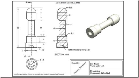 solidworks tutorial exercises pdf 3d solid modelling videos valve lifter practice