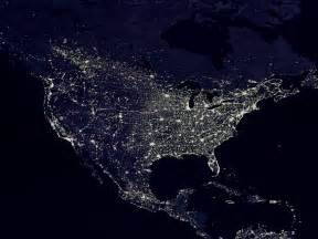 world lights the lights of the united states as seen from space