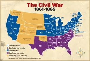us civil war and south map civil war map scholastic news scholastic