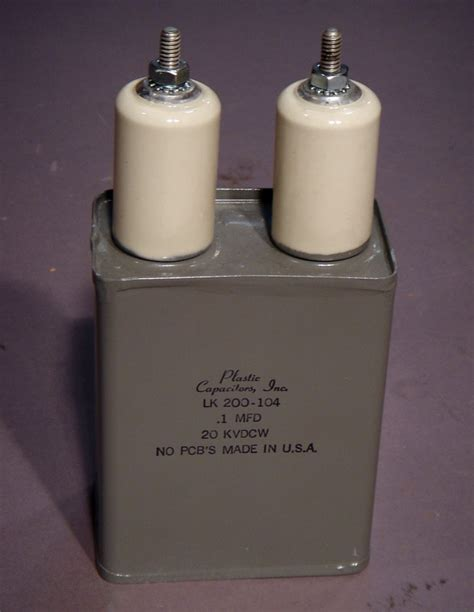 high voltage capacitor 20kvdc 1uf lk200 104 at the electrostore electronic surplus