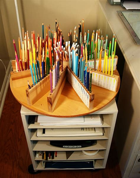lazy susan organizer ideas lazy susan pencil organizer shoplet blog