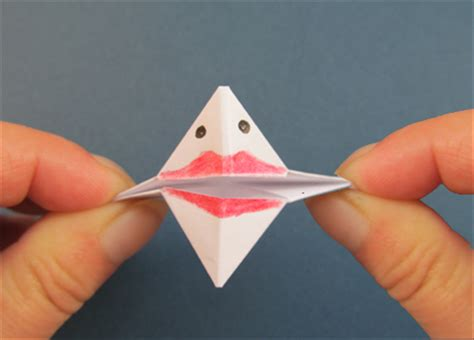 Origami Puppet - how to fold an origami talking puppet children s origami