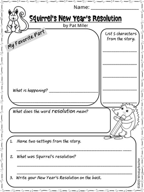 new year lesson plan pdf squirrel s new year s resolution activity sheets print