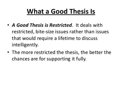how to do a thesis writing a thesis statement