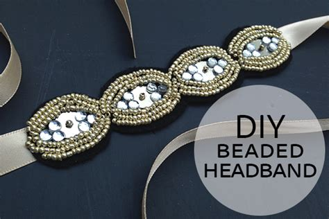 How To Make A Paper Headband - how to make a beaded headband diy beaded headband