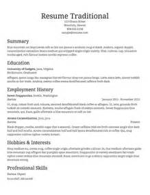 Resume For Casual A Sle Template Of A Traditional Resume