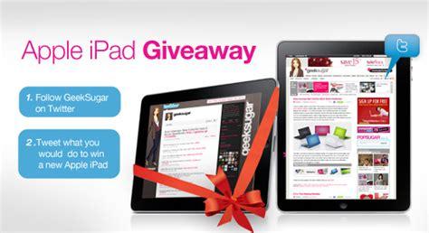 Apple Ipad Giveaway Facebook - geeksugar s apple ipad giveaway rules popsugar tech