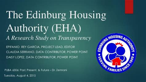 edinburg housing authority the edinburg housing authority eha a research study on transparen