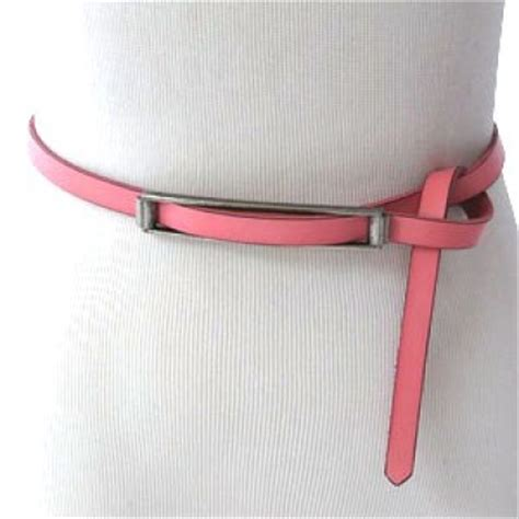 Bali Ribbena Pink bali belts pink matte genuine leather belt with no
