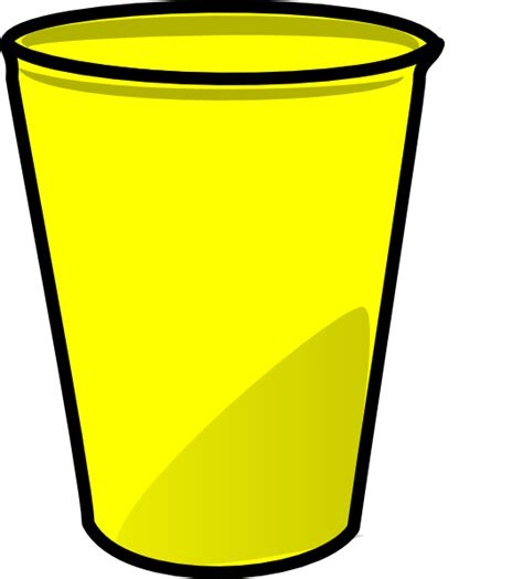 Clipart Cup yellow cup clip at clker vector clip