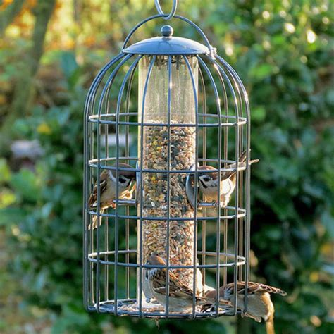 Caged Bird Feeders Nuttery Classic Large Caged Seed Feeder