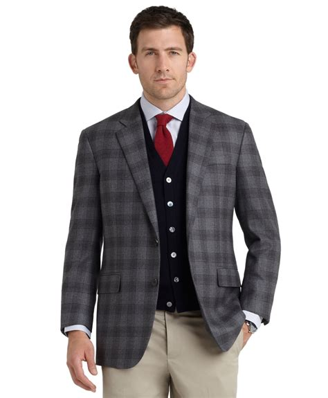 plaid shorts grey 30 smash lyst brothers fit plaid sport coat in gray for