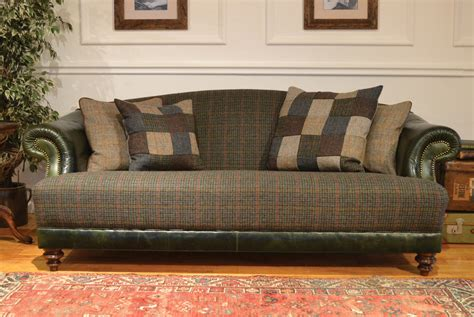 traditional settee taransay traditional harris tweed handmade furniture