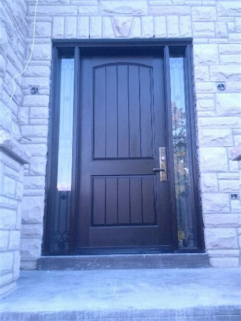 Exterior Side Door With Window Fiberglass Door Exterior Door Rustic 2 Panel Front Door