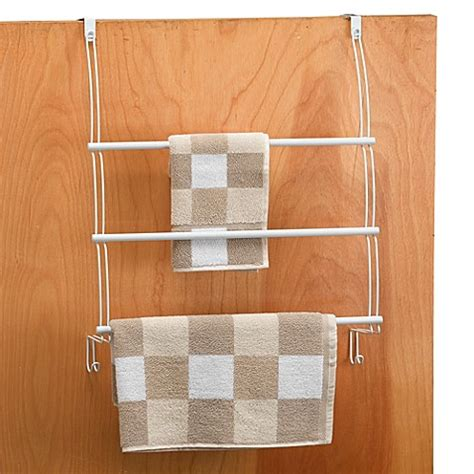 bed bath and beyond towel bars better bath 174 white over the door towel bars bed bath