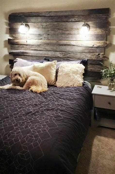 wood headboard with lights best 25 barn wood headboard ideas on diy