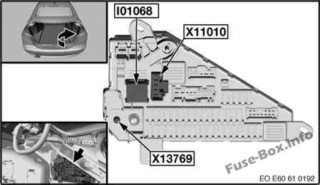 fuse box diagram bmw  series ee