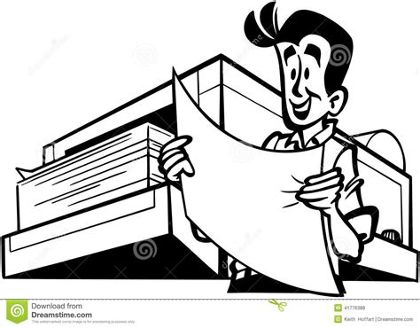 eps format for printing man with printer cartoon vector clipart stock vector