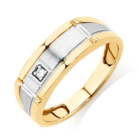 Mens Ring by S Ring With A In 10ct Yellow Gold