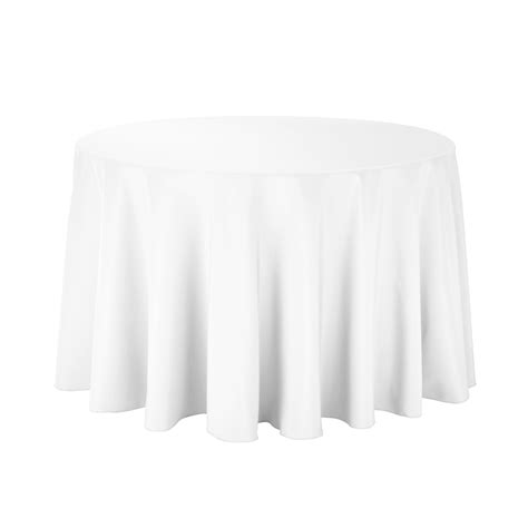 table with white tablecloth 108 in economy polyester tablecloths white for