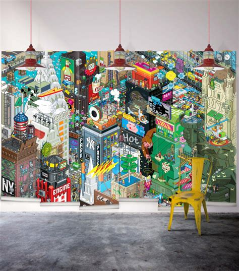 wallpaper design jobs nyc cool graphic wallpaper by milton king design milk