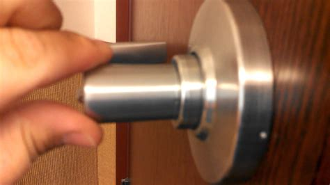 lock ring coming on the inside of a door handle