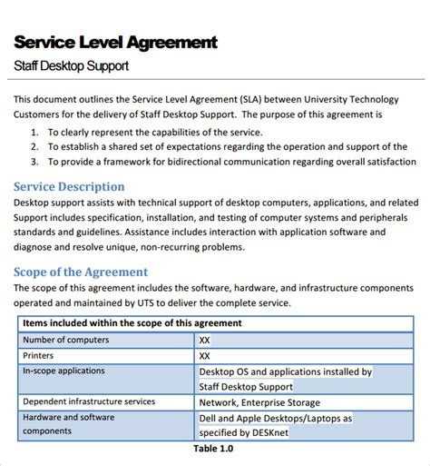 sla template pin service level agreement and sla audit guide sle