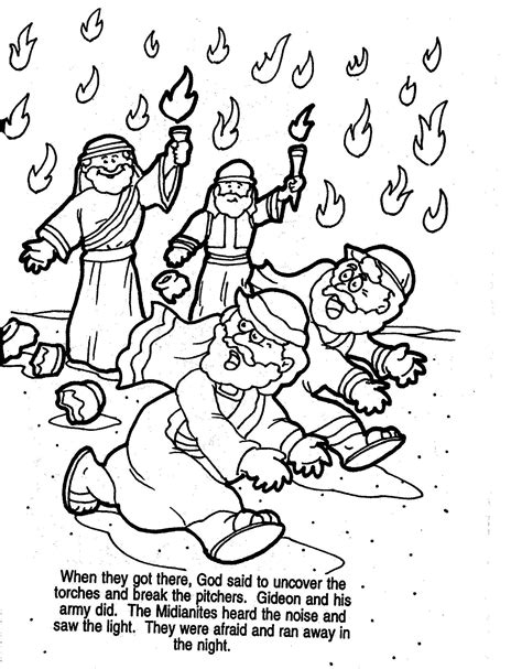 activity coloring pages gideon bible coloring pages